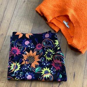 {LulaRoe} Floral Sunflower 'Cassie' Pencil Skirt